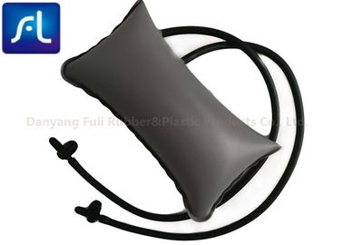 Double Tubes Gray PVC Bladder , Sphygmomanometer Bladder With Valves / Knee